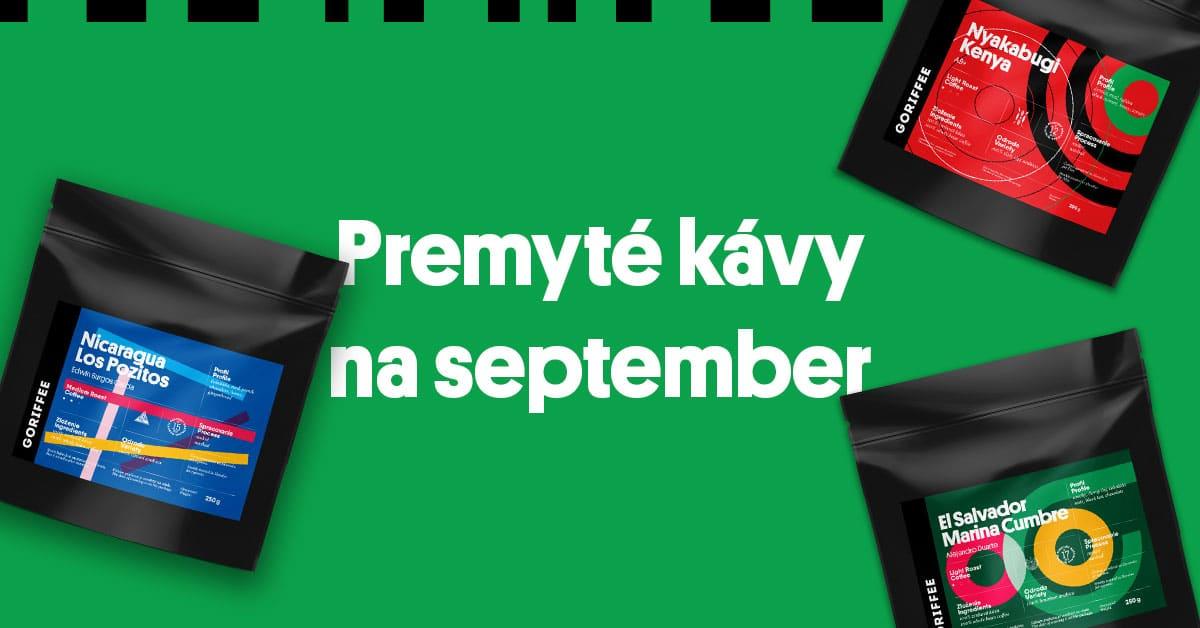 Novinky v ponuke: Premyté kávy na september