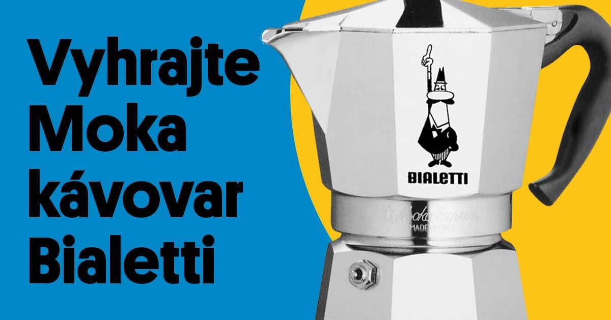 Súťaž o 3 kávovary Moka Bialetti